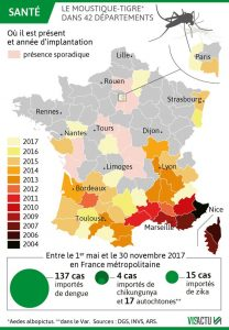 progression moustique tigre departements france annees
