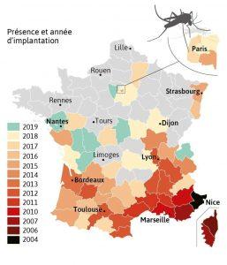 carte moustique tigre departements france 2020